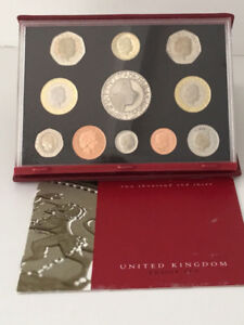 2003 UNITED KINGDOM PROOF RED DELUXE COIN SET - 11 Coins