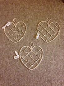 NEW Shabby Chic Heart Memo/Photo Holder £2 each