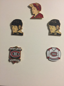 2-99 Wayne Gretzky Lapel Pin+1 Patric Roy#33+ 2 Canadian Total 5