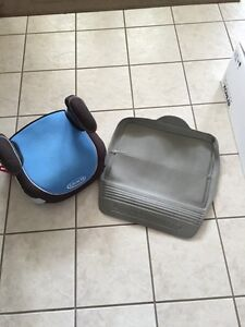 Booster seat with seat protector