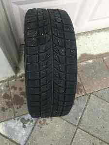 Winter Tires + Rims, 17 inch x4 set, only 2 winters old! London Ontario image 2