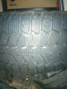 4 Uniroyal Tiger Paw Ice & Snow II Winter Tires with Rims