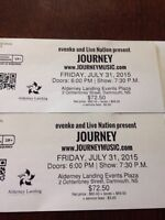 Two tickets to Journey