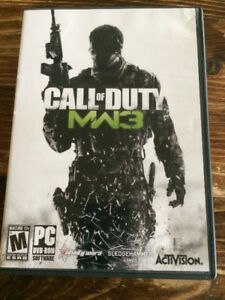 Call of Duty mw3 computer game for sale.