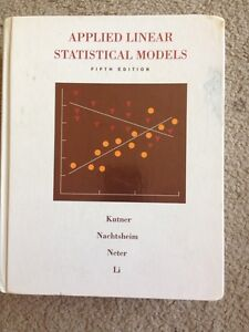 Applied linear statistical models London Ontario image 1