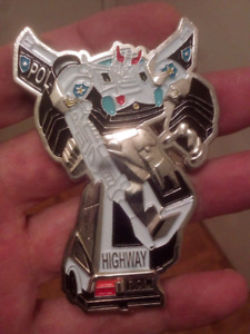LARGE HEAVY NYPD TRANSFORMERS HIGHWAY PATROL COIN.