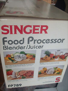 Singer Food Processor, Blender/.Juicer