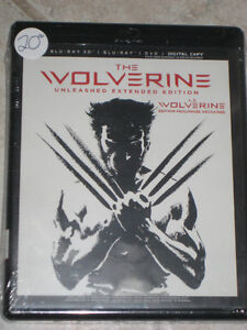 The Wolverine Blu Ray 3D DVD Unleashed Extended Edition Sealed