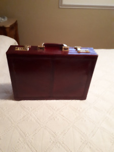 Eel Skin Briefcase with Combination Lock