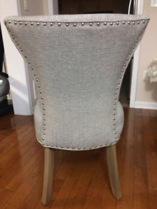 2 mint condition accent chairs. Grey. Ancaster
