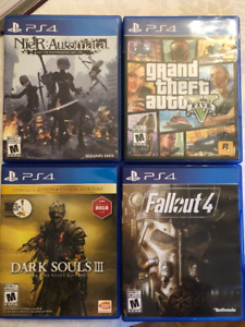 PS4 Games: ( Fallout 4 / GTA V / NieR: Automata / Dark Souls 3 )
