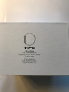 Apple Watch series one 42mm stainless steel/sapphire crystal