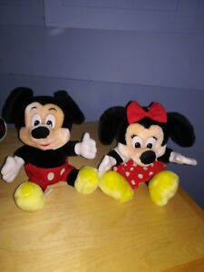 Mickey et minnie  mousse 30$