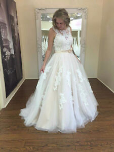 Alfred Angelo Beaded Lace Wedding Dress