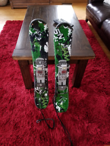 Snowjam Snowblades with boots and  binders $100
