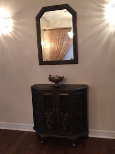 Rosewood, hand carved solid wood Royal Console with cabinet!