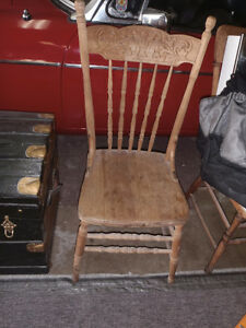 3  pressed back antique chairs