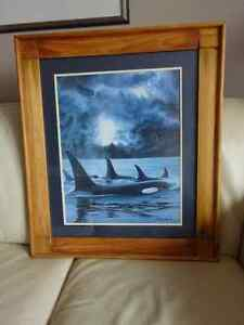 Lovely Print of Whales