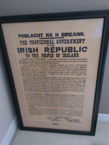 Reproduction of the irish proclamation of independence