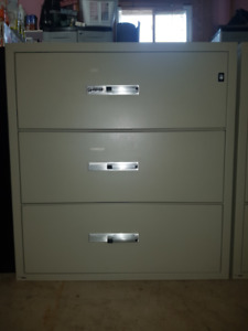 *USED* GARDEX 3-DRAWER FIRE PROOF FILING CABINET -FIVE AVAILABLE