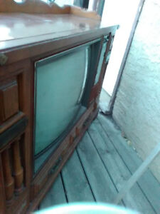 Old cabinet TV working free for taking