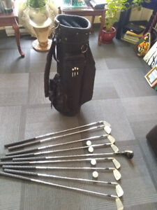 Golf Bag with clubs and balls
