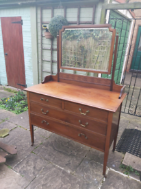 Antique style dressing table with mirror.