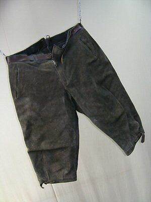 Beautiful Old Kids Youth Leather Trousers 3/4tel Three-Quarters Capri Pants