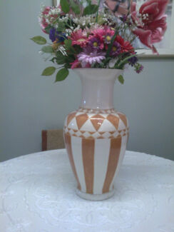 A Substantial Large And Heavy Vase With A Beautiful Long Neck