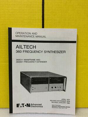 Ailtech 360 Frequency Synthesizer 360d11 Mainframe 3600e1 Extender Maintenance