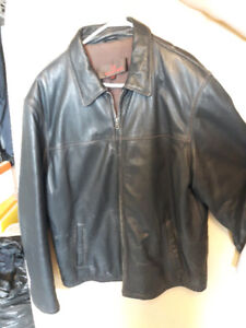 2- leather jackets--2xl danier and a midway-medium