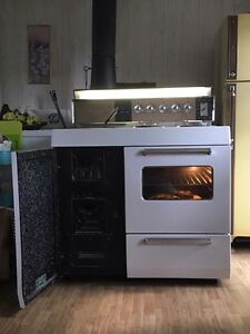 Wood electric kitchen stove