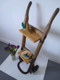 Handcrafted vintage sack barrow repurposed as display unit/bookshelves