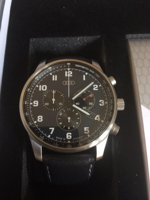 Audi Watch Chronograph Black Night New Never Worn In Inverness - Audi watch