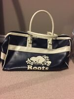 Leather roots travel bag