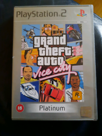Playstation 2 game gta vice city gd game