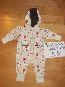 Pyjamas et cache-couches fille 3-6 mois Saguenay Saguenay-Lac-Saint-Jean image 7