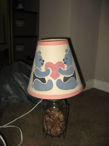 Cute Mason Jar Lamp With Teddy Bear Shade