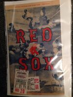 1954 Red Sox program and ticket stubs