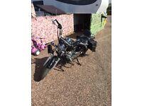 125 Yamaha dragstar motorbike