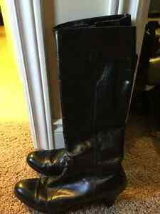 Two pairs tall black boots size 8-9 Both for $20 or $12 each