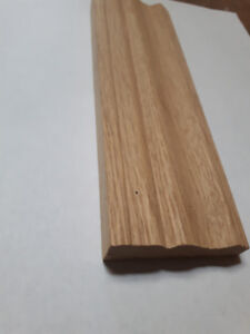 White oak casing and baseboard