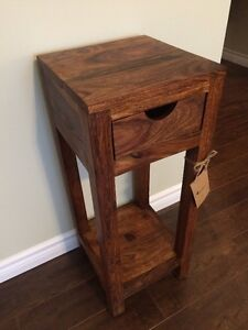 Brand new solid wood side table/telephone table