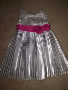 PENELOPE MACK SILVER DRESS SZ 12 MTH!!