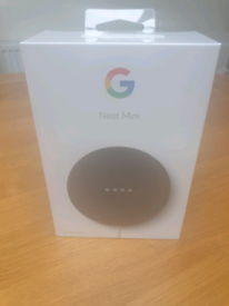 Brand New Google Nest Mini Speaker 2nd Generation Charcoal Sealed