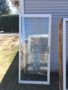 4 volets de portes patios usage en PVC Thermos en verre trempé
