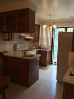 5½ Furnished with Backyard, Private Garage & A/C