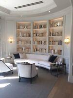 Custom built Cabinetry, Trim, Wainscoting, Built-ins & more