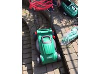 Qualcast electric lawnmower 1300w with strimmer