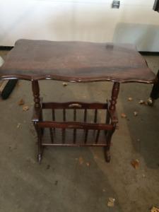 Vintage side Table and Magazine Holder
